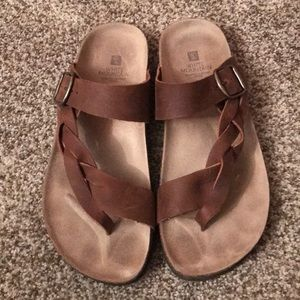 White Mountain Braided Sandals - Size 8